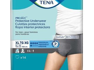 Male Adult Absorbent Underwear TENA ProSkina Pull On X large Disposable Moderate Absorbency Bag of 14