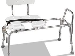 DMi Heavy Duty Sliding Transfer Bench with Cut Out Seat  19 23 h  15 X 19 Seat