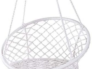 Hammock Chair Macrame Swing  Max 330 lbs  Hanging Cotton Rope Hammock Swing Chair