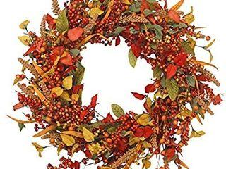 VGIA 22 inch Artificial Fall Wreath