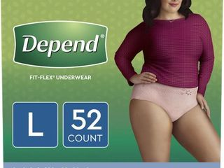 Depend Fit Flex Incontinence Underwear for Women  Maximum Absorbency  large  52ct