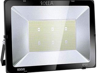 SOllA 600W lED Flood light  IP66 Waterproof  48000lm  3300W Equivalent  Super Bright Security light  6000K Daylight White  Exterior lighting Outside Floodlight lED Stadium light Spotlight Wall light