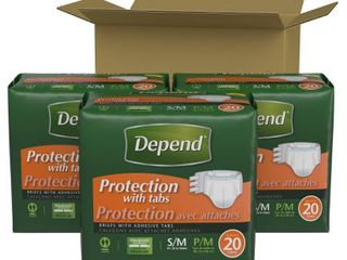 Depend Unisex Incontinence Underwear with Tabs   Maximum Absorbency   Small Medium   60ct