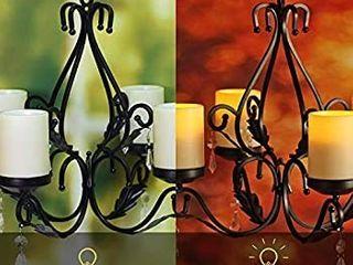 Chandelier With 6pcs led Candle Patio Decoration  Black