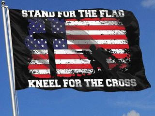 Stand for The Flag Kneel for The Cross Flag 3x5 Flag