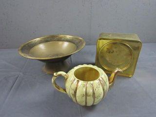 Decorative Brass Israel Bowl & Misc