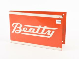 BEATTY S S PAINTED METAl POlE SIGN