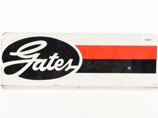 GATES S S PAINTED METAl RACK TOP SIGN