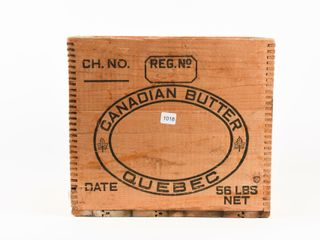 CANADIAN BUTTER QUEBEC 56 lBS WOODEN BOX
