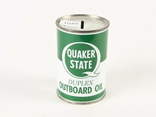 QUAKER STATE OUTBOARD OIl ADV  COIN BANK  NOS