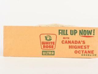 RARE WHITE ROSE UlTRA PAPER HAT ADVERTISING  NOS