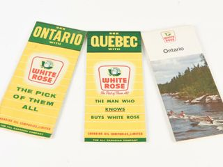 GROUPING OF 3 WHITE ROSE 2  ONTARIO   QUEBEC MAPS