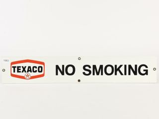 TEXACO NO SMOKING S S PAINTED METAl SIGN