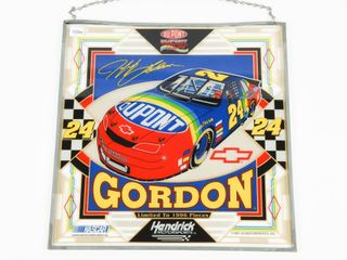 DUPONT JEFF GORDON 24 STAINED GlASS STYlE HANGER
