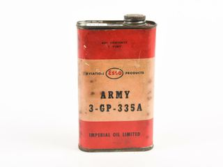 ESSO AVIATION PRODUCTS ARMY 3 GP 335A PINT CAN