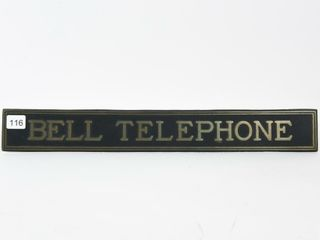 BEll TElEPHONE BRASS EMBOSSED PlAQUE