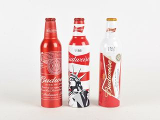 GROUPING OF3 BUDWEISER COllECTOR BEER BOTTlES