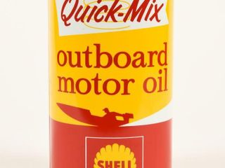 SHEll QUICK MIX OUTBOARD MOTOR OIl QT  CAN  FUll