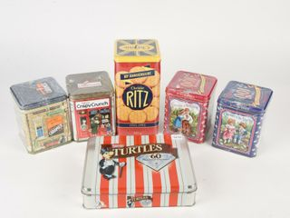GROUPING OF 6 CHOCOlATE COllECTOR TINS