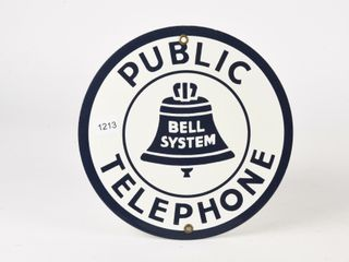 BEll SYSTEM PUBlIC TElEPHONE SSP SIGN