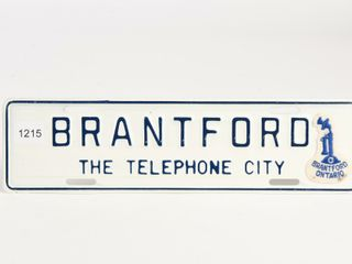 BRANTFORD TElEPHONE CITY SST EMBOSSED SIGN PlATE