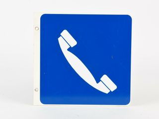 ORIGINAl TElEPHONE HERE D S CORRUGATED SIGN