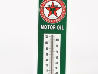 TEXACO MOTOR OIl S S PAINTED METAl THERMOMETER