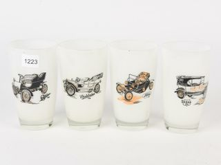 GROUPING OF 4 ClASSIC CAR COllECTOR GlASSES
