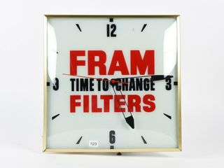 FRAM  TIME TO CHANGE FIlTERS  ElECTRIC ClOCK