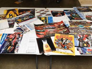 lARGE lOT NASCAR  CAR ADVERTISING POSTERS