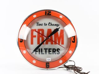 FRAM  TIME TO CHANGE FIlTERS  DOUBlE BUBBlE ClOCK