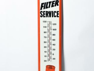 FRAM FIlTER SERVICE S S PAINTED METAl THERMOMETER
