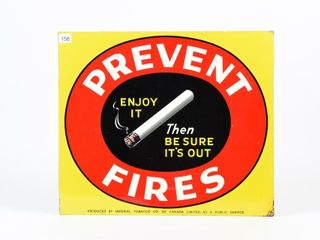 PREVENT FIRES  BE SURE IT S OUT  SST SIGN