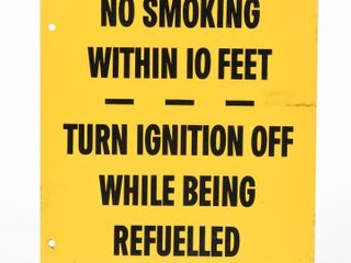 1966 NO SMOKING WITHIN 10 FEET D S METAl SIGN
