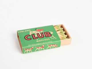 lOBlAW ClUB WOODEN MATCHES   BOX   NOS