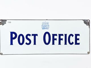 1952 POST OFFICE SSP CONVEX SIGN