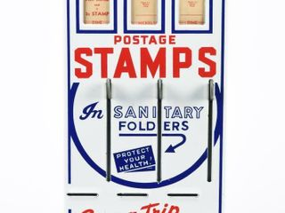 VINTAGE POSTAGE STAMPS COIN OPERATED MACHINE