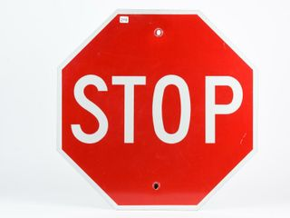 STOP S S PAINTED METAl OCTAGON SHAPED SIGN