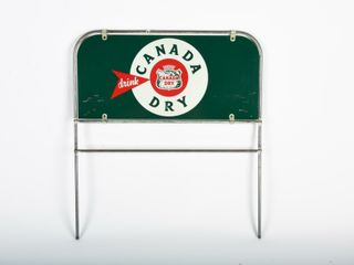 DRINK CANADA DRY D S PAINTED METAl RACK TOPPER