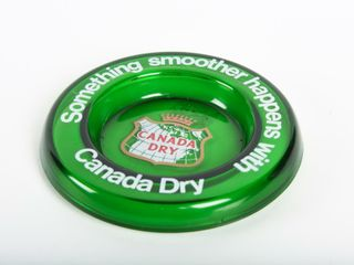 CANADA DRY  SOMETHING SMOOTHER  GlASS ASHTRAY