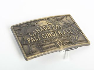 1985 CANADA DRY PAlE GINGERAlE BElT BUCKlE   NOS