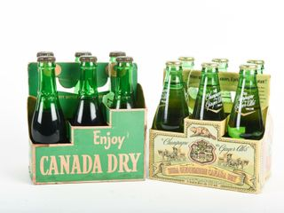 GROUPING 2 CANADA DRY 6 PACK CARTONS  FUll