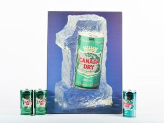 lOT OF 4  CANADA DRY ADVERTISING   3 CANS