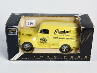 lIBERTY STANDARD AUTO GlASS 1948 FORD COIN BANK
