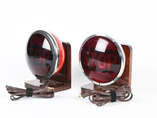 PAIR OF VINTAGE STOP TAIl lIGHTS