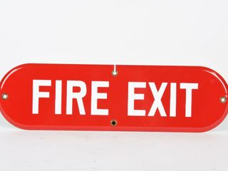 FIRE EXIT SSP SIGN