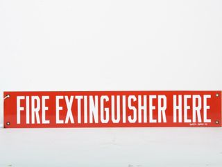 FIRE EXTINGUISHER HERE SSP SIGN