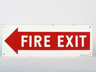 FIRE EXIT DSP SIGN