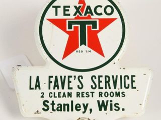 TEXACO ClEAN REST ROOMS METAl lICENSE PlATE TOPPER