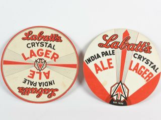 lOT 2 lABATT S INDIA PAlE AlE   CRYSTAl lAGER ADV